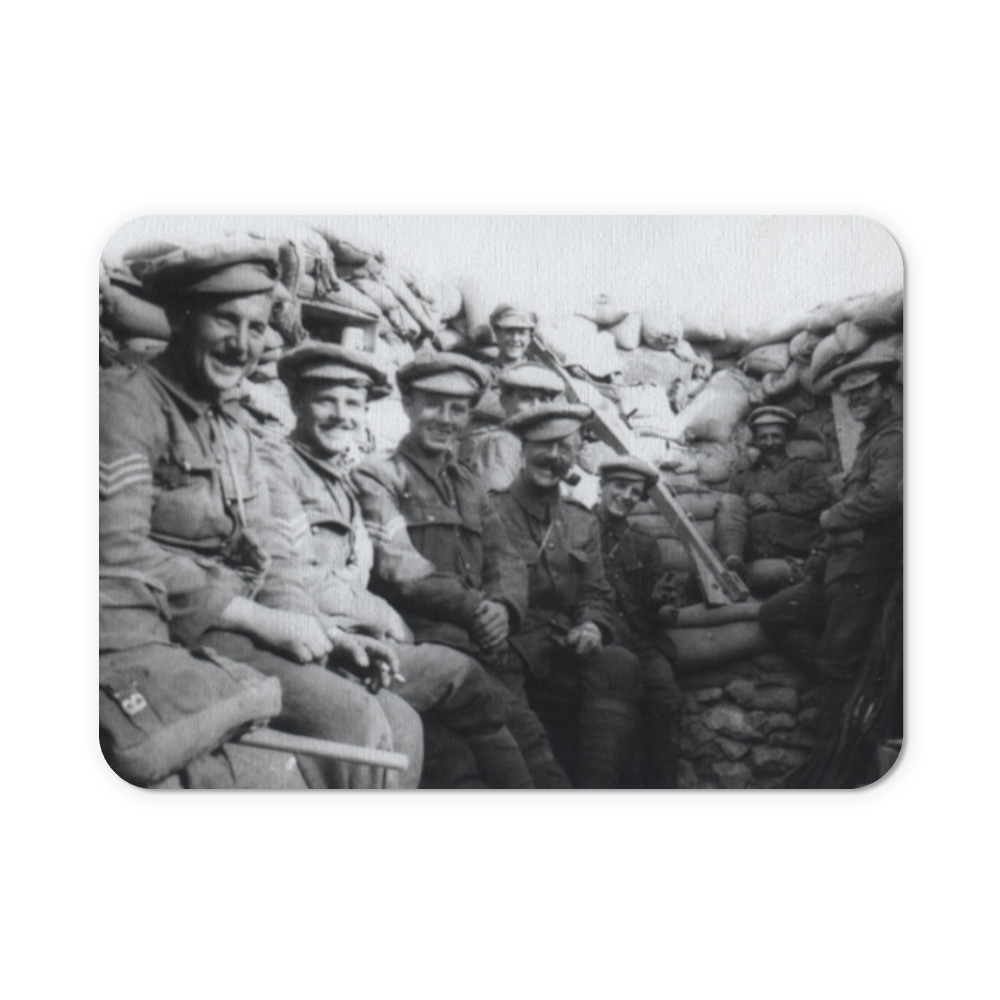 'C' Company Royal Marines Light Infantry in trenches at Gallipolli.. Mousemat