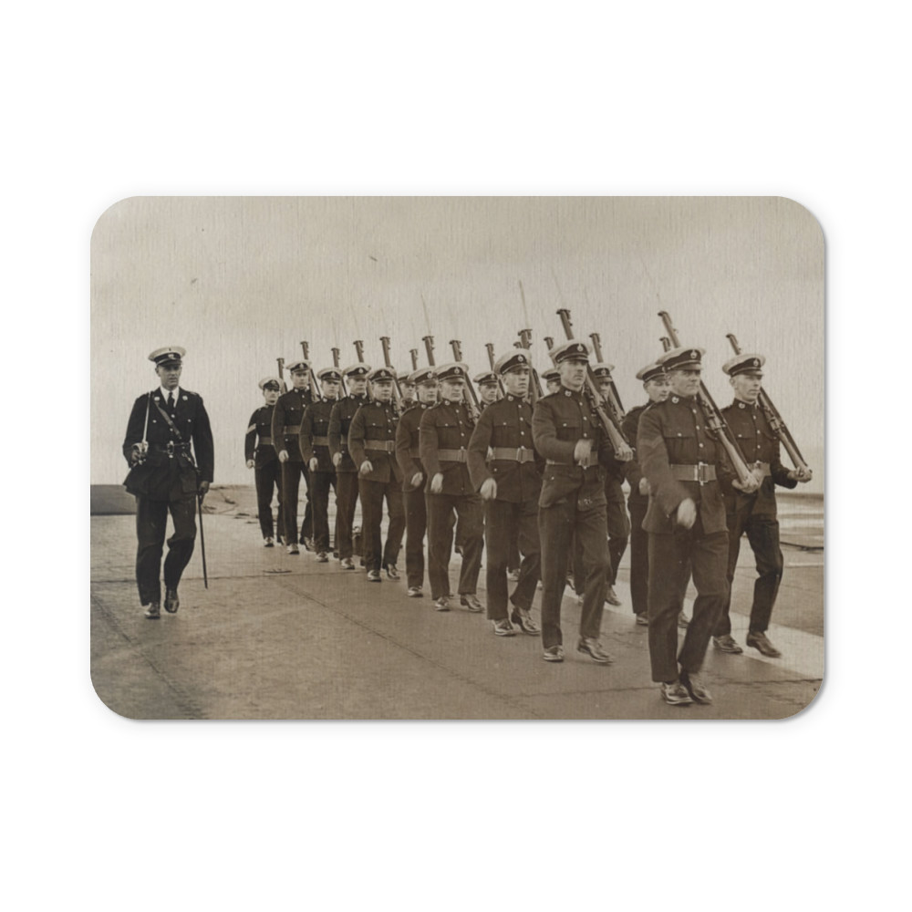 Royal Marine Guard on the flight deck of the aircraft carrier HMS Furious,.. Mousemat