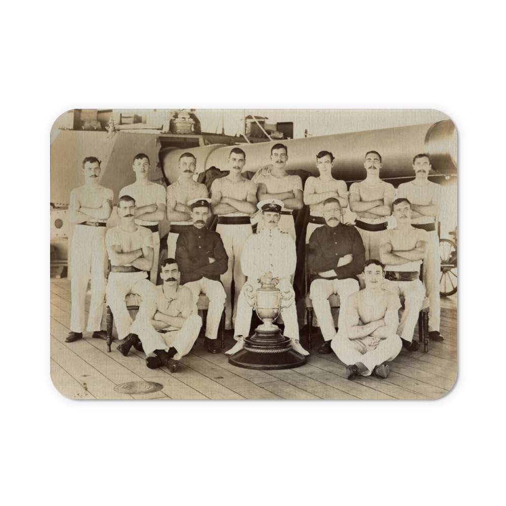 Royal Marines of the Royal Marine Detachment of the battleship HMS Prince.. Mousemat