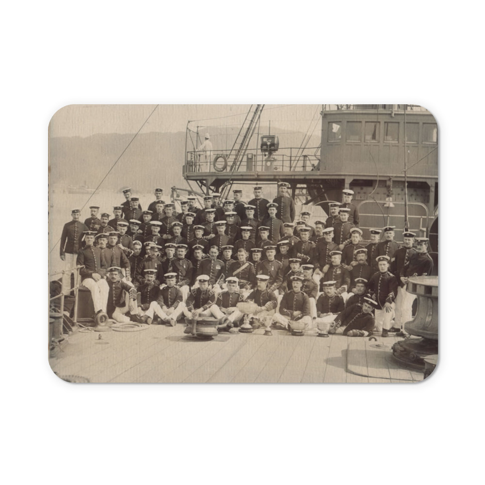 Royal Marine Detachment aboard the cruiser HMS Diadem, probably on the.. Mousemat