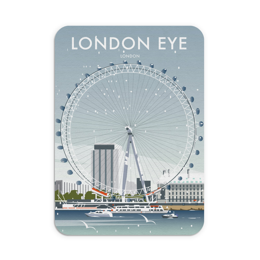 London Eye Winter Mouse Mat