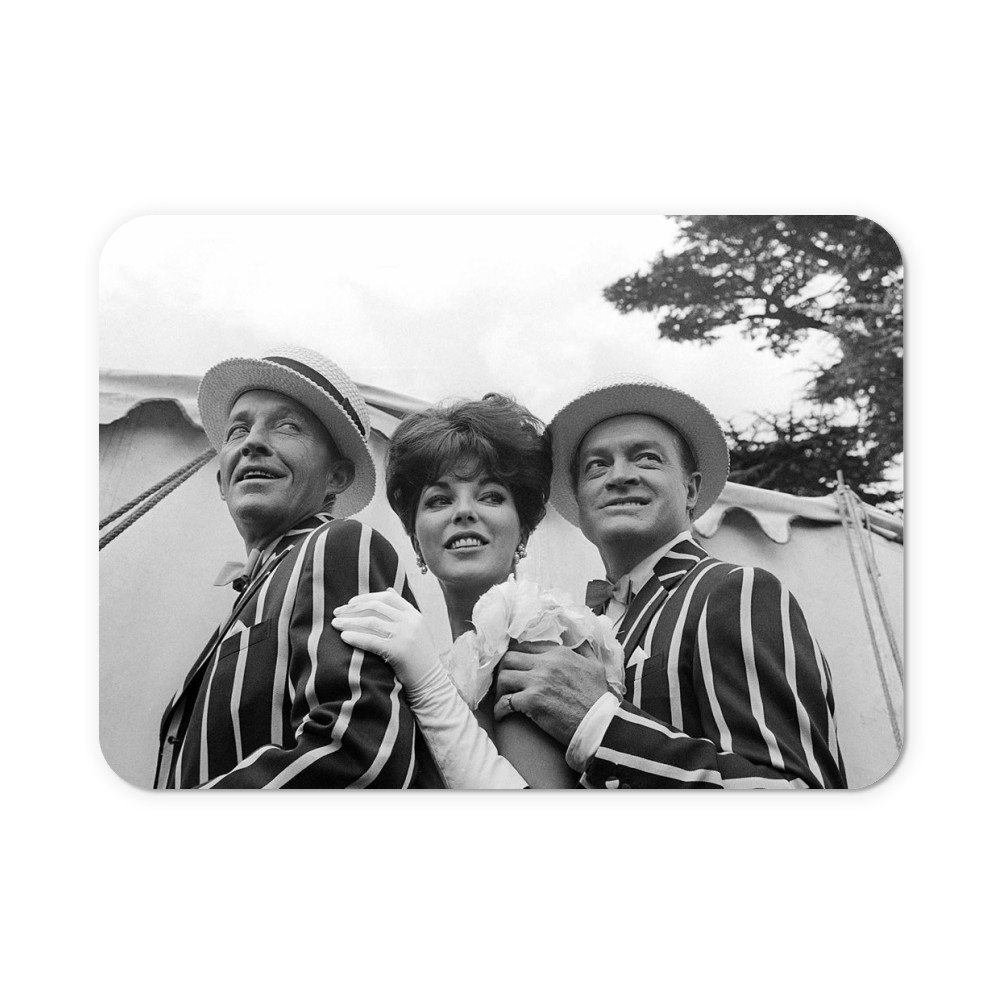 'Bing Crosby, Joan Collins and Bob Hope' Mousemat