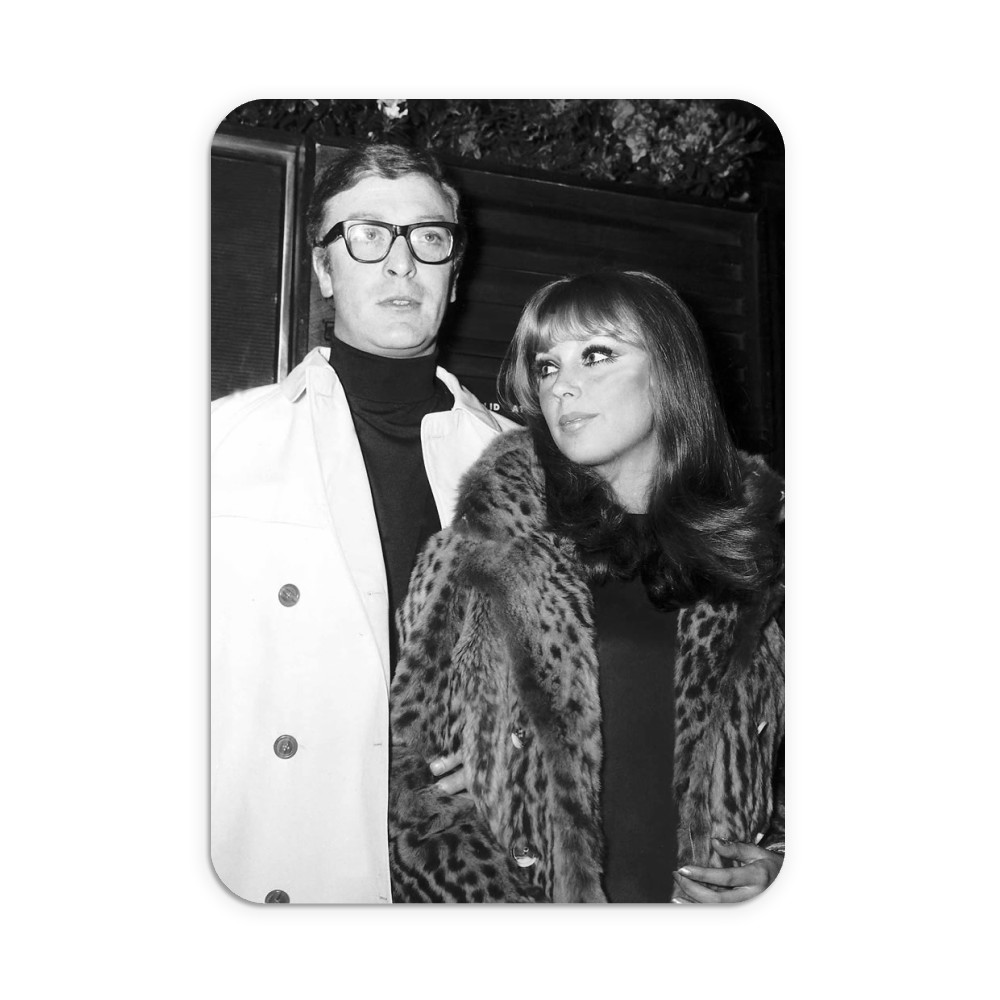 Michael Caine actor and girlfriend Elizabeth Ercy Mousemat