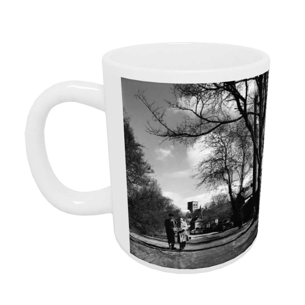 Two men walking through the park in St... Mug