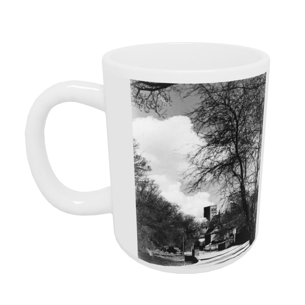 St. Albans scene Cathedral seen through.. Mug