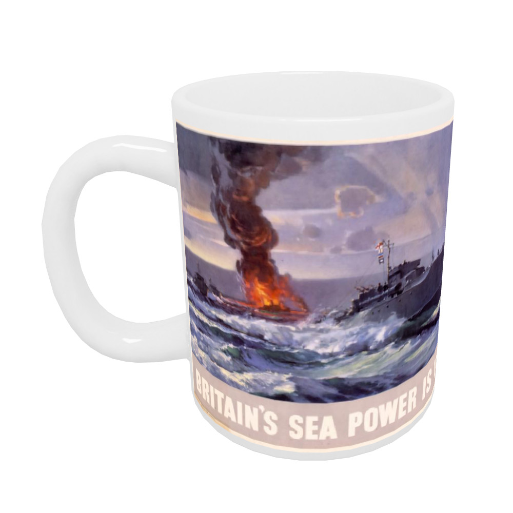 Britain's Sea Power is Yours! MTB's Attack at Dawn Mug