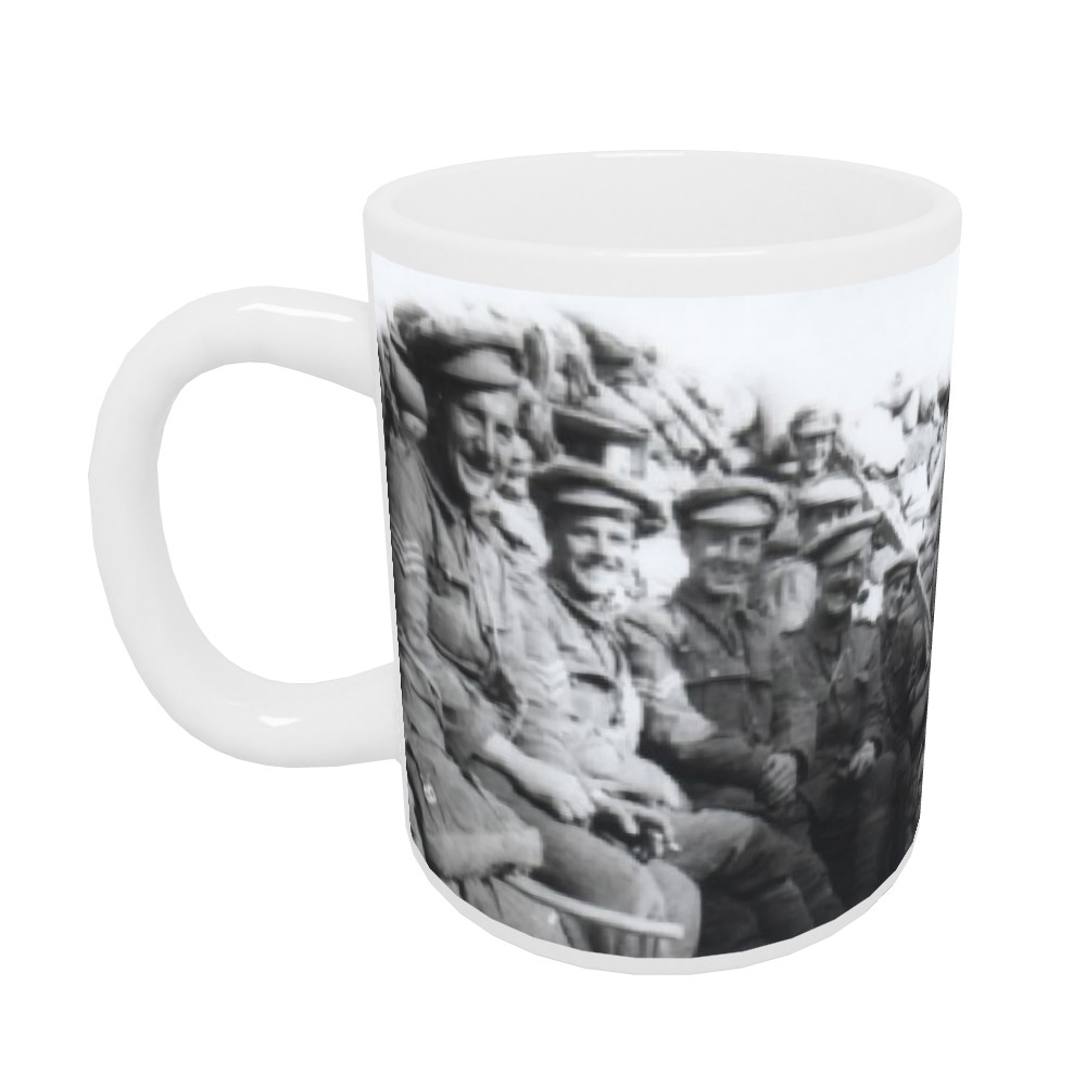 'C' Company Royal Marines Light Infantry in trenches at Gallipolli.. Mug