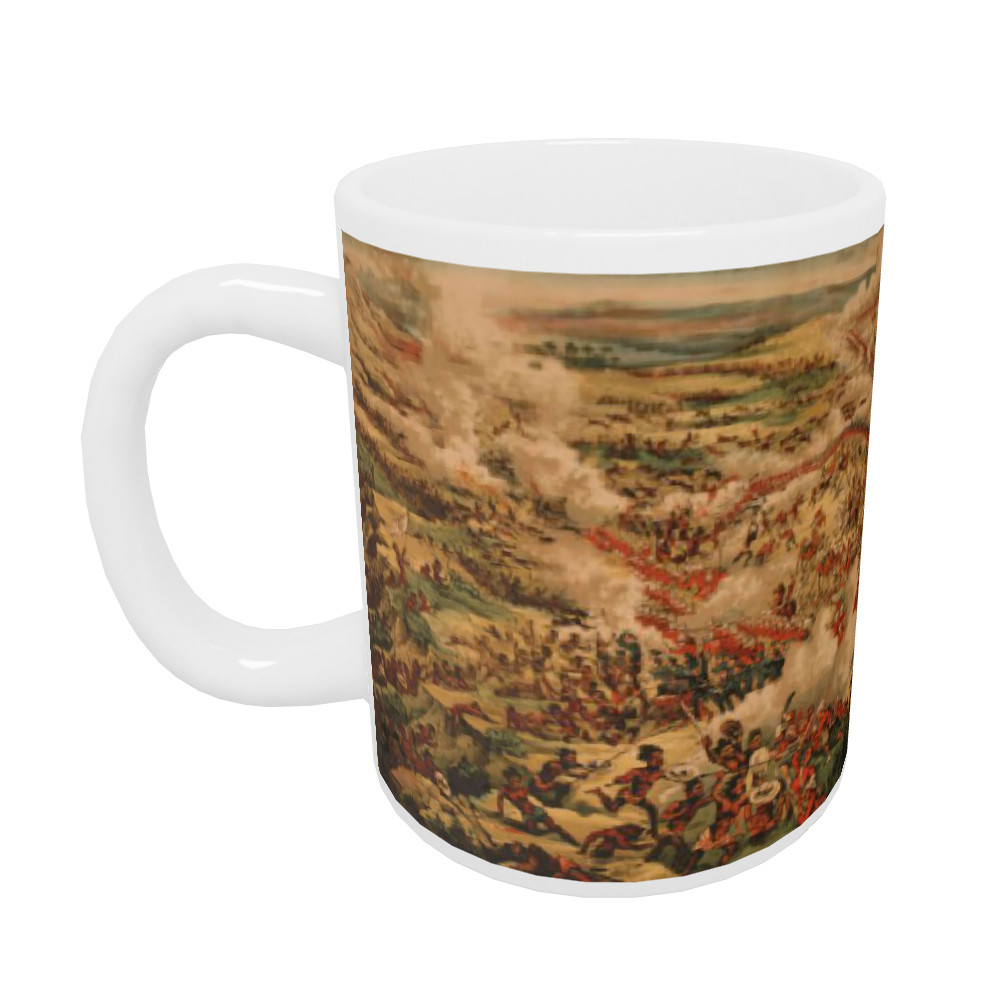 Birds Eye View of the Battle of Tamanieb, 13th March 1884. Mug