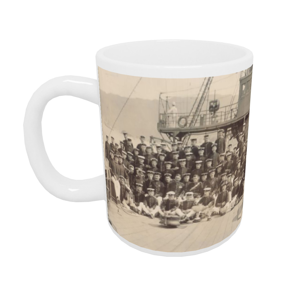 Royal Marine Detachment aboard the cruiser HMS Diadem, probably on the.. Mug