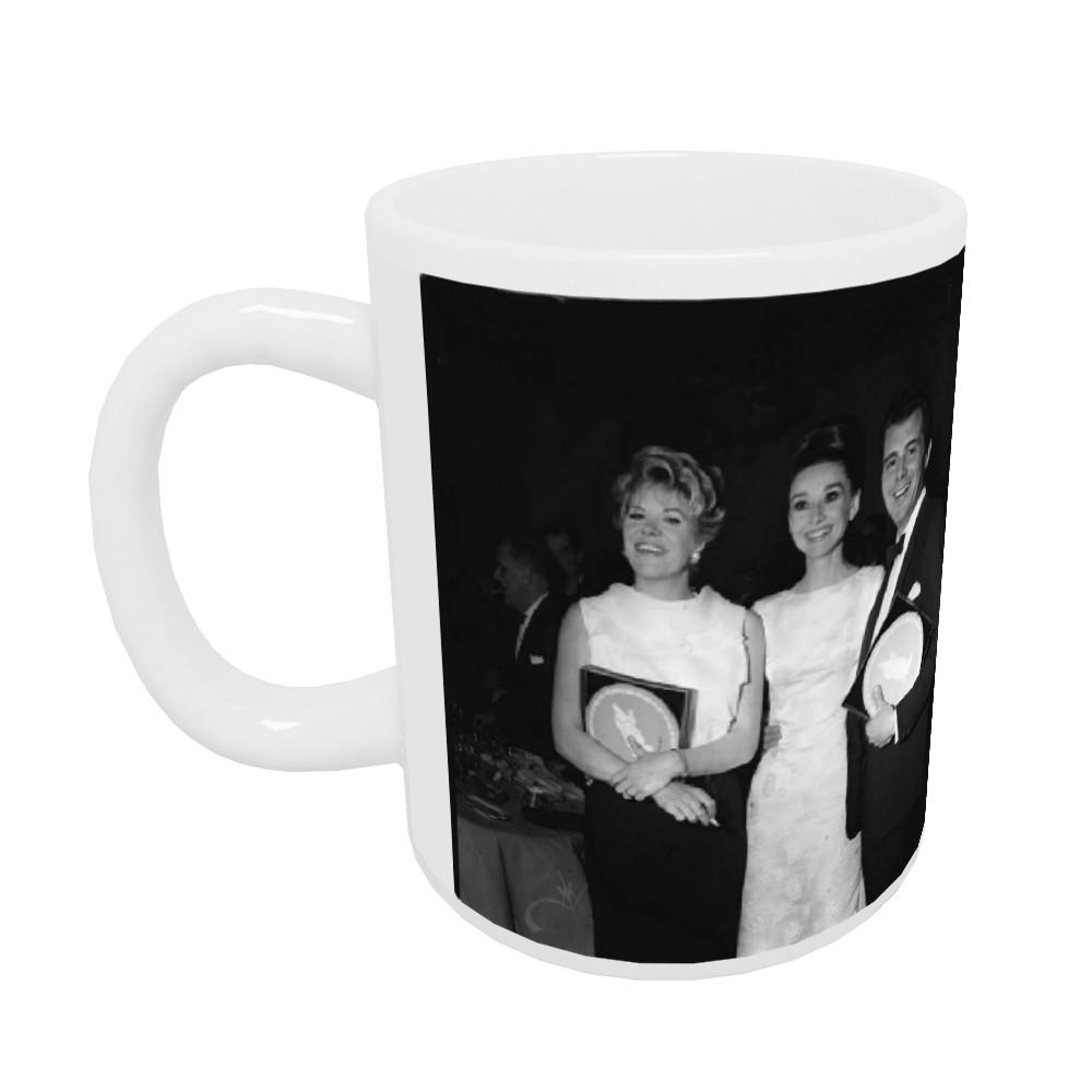 'Rachel Roberts, Audrey Hepburn and Dirk Bogarde' Mug