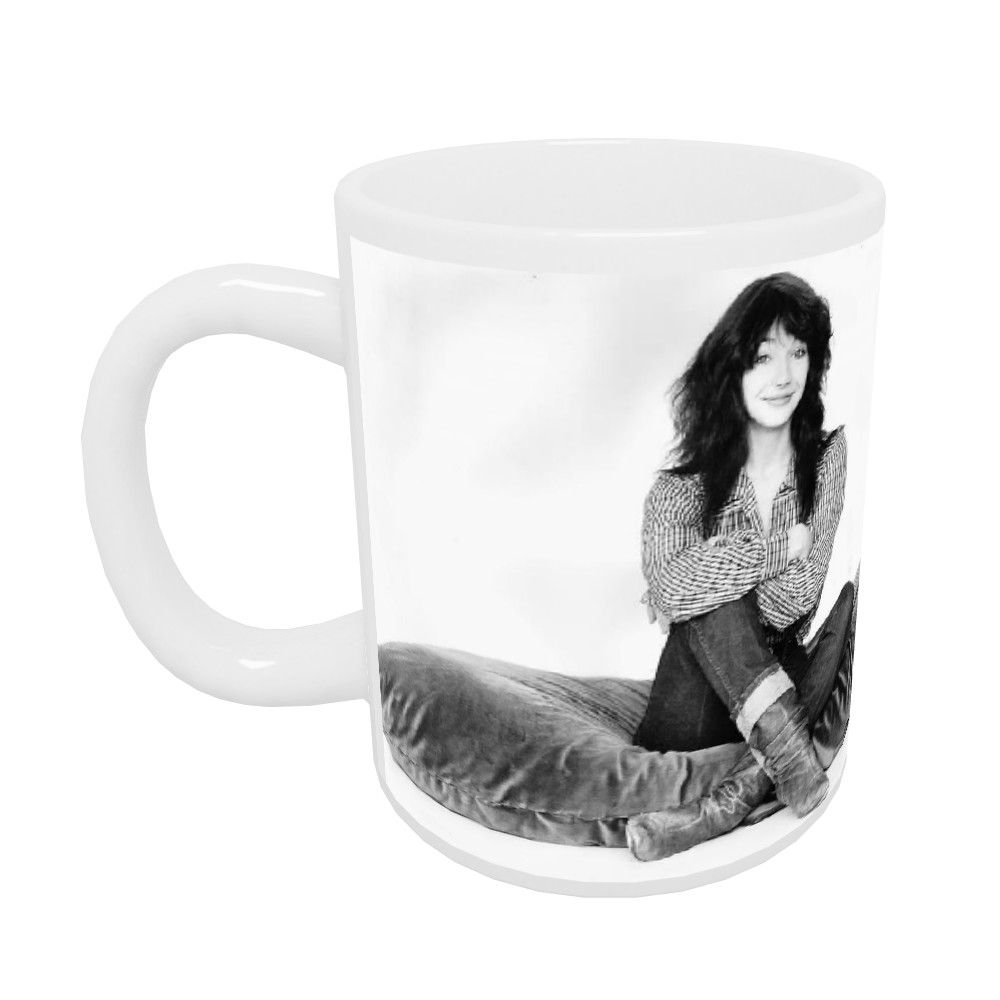 Kate Bush Singer Sitting On A Giant Cushion September 1983  Mug