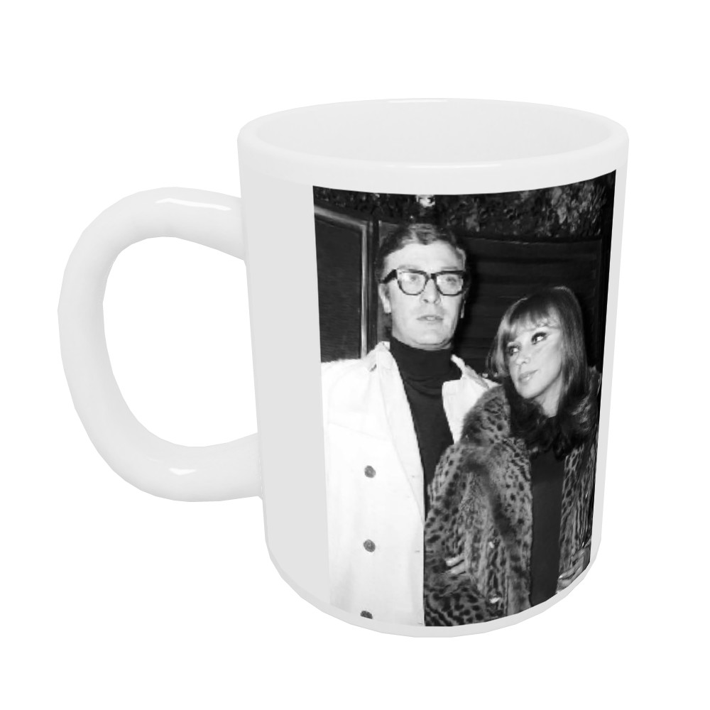 Michael Caine actor and girlfriend Elizabeth Ercy Mug