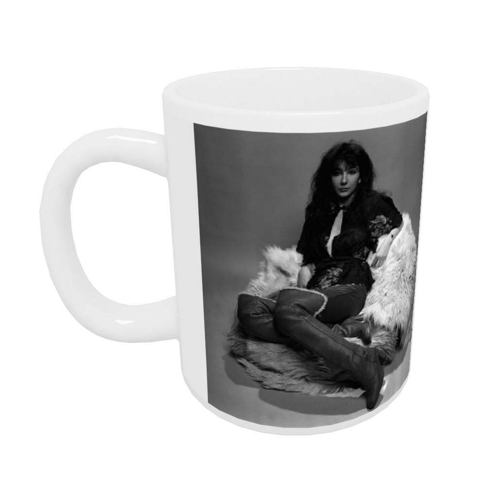 Singer Kate Bush in the studio March 1978 Mug
