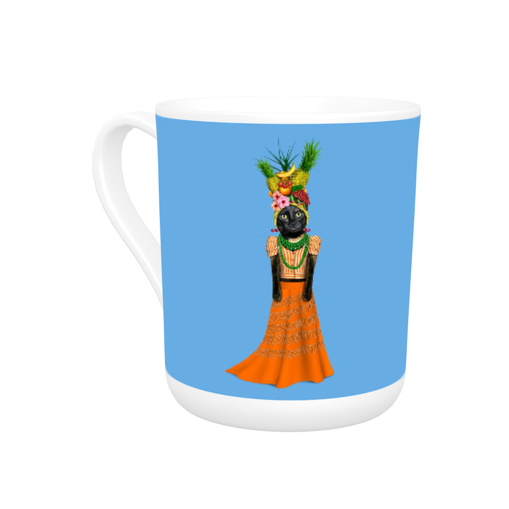Fruit Pets Rock Bone China Mug