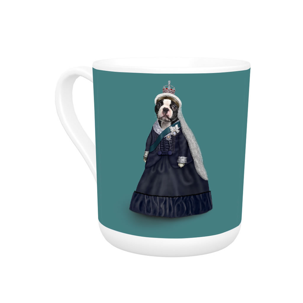 Queen Vic Pets Rock Bone China Mug