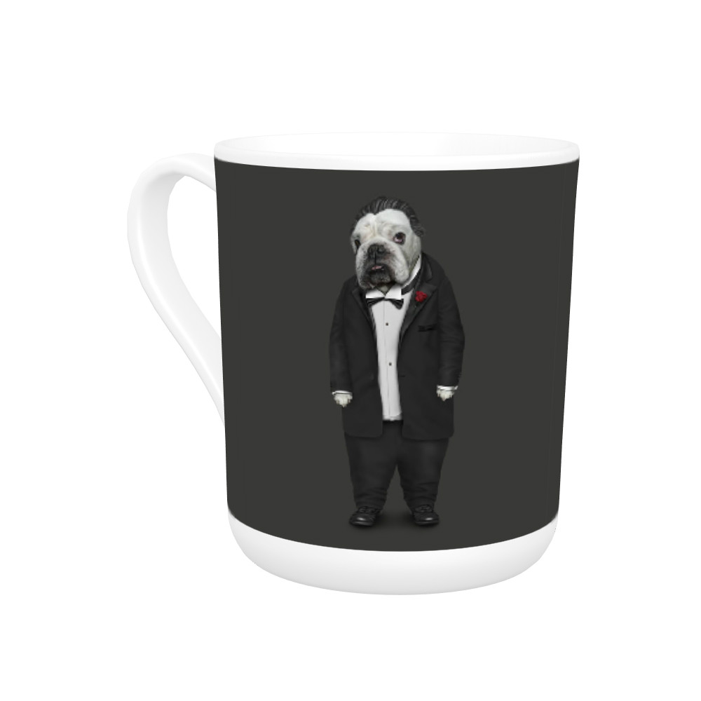Dog Father Pets Rock Bone China Mug