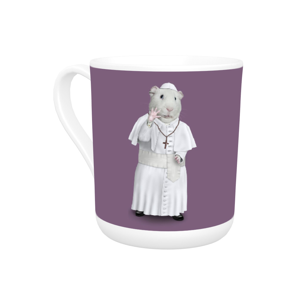 Church Pets Rock Bone China Mug