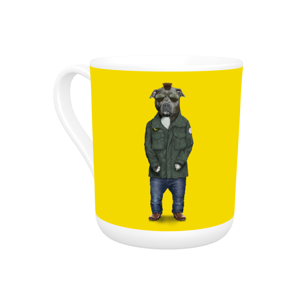 Cabbie Pets Rock Bone China Mug