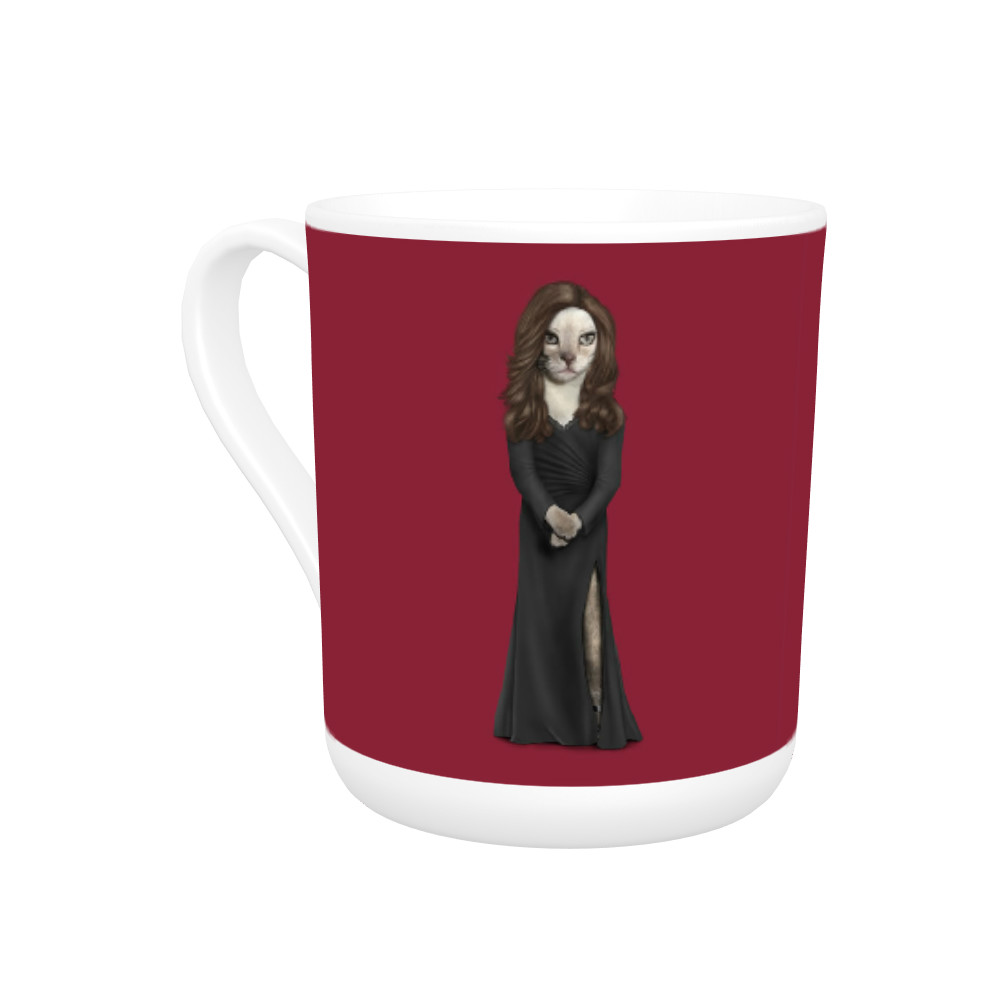 Hollywood Lady Pets Rock Bone China Mug