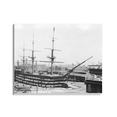 HMS Victory Undergoing Restoration in 1922 Notepad