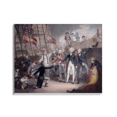 Admiral Nelson Receiving the Spanish Admiral's Sword, Battle of St. Vincent Notepad