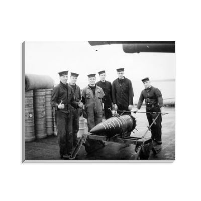 14inch Shell and Barrow Party on HMS Duke of York Notepad