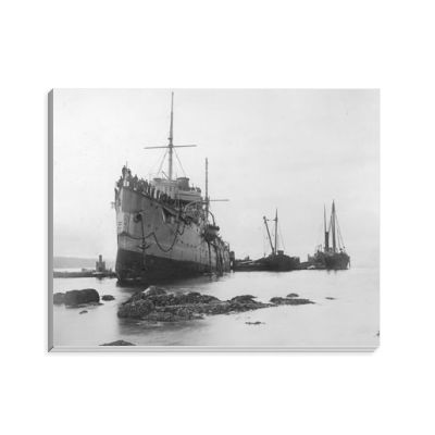 HMS Flora Run Aground in 1903 Notepad