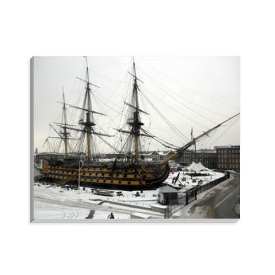 HMS Victory in the Snow Notepad