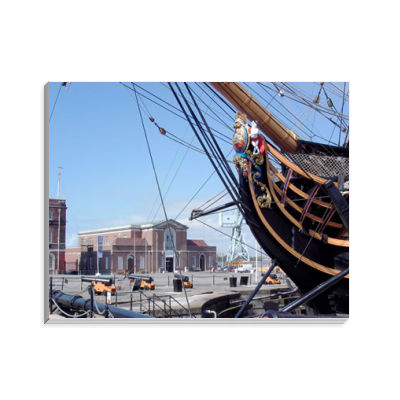 The Bow and Figurehead of HMS Victory Notepad