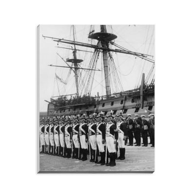 Ceremony Beside HMS Victory, 1930s Notepad