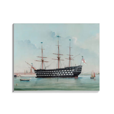 HMS Victory in Portsmouth Harbour, c.1860 Notepad