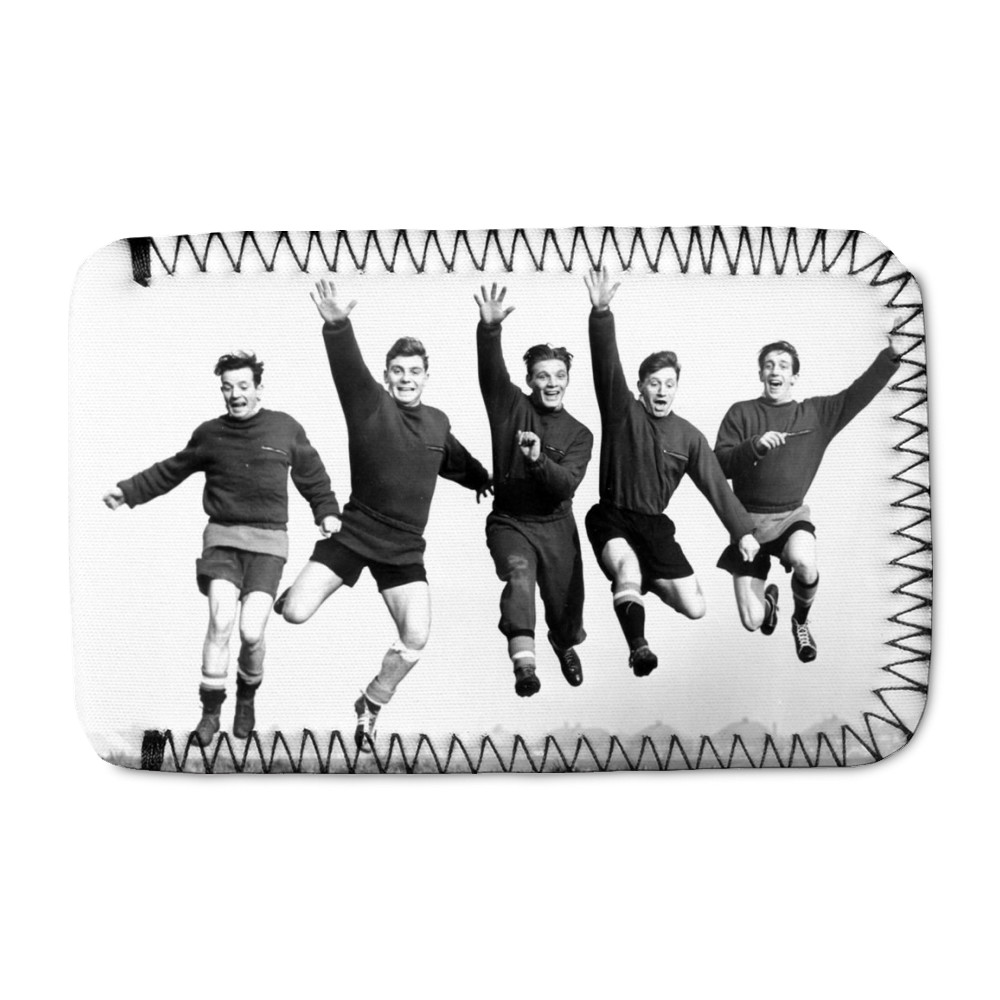Busby babes Johnny Berry, Duncan.. Phone Sock