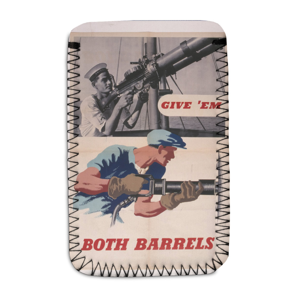 Give 'Em Both Barrels Phone Sock