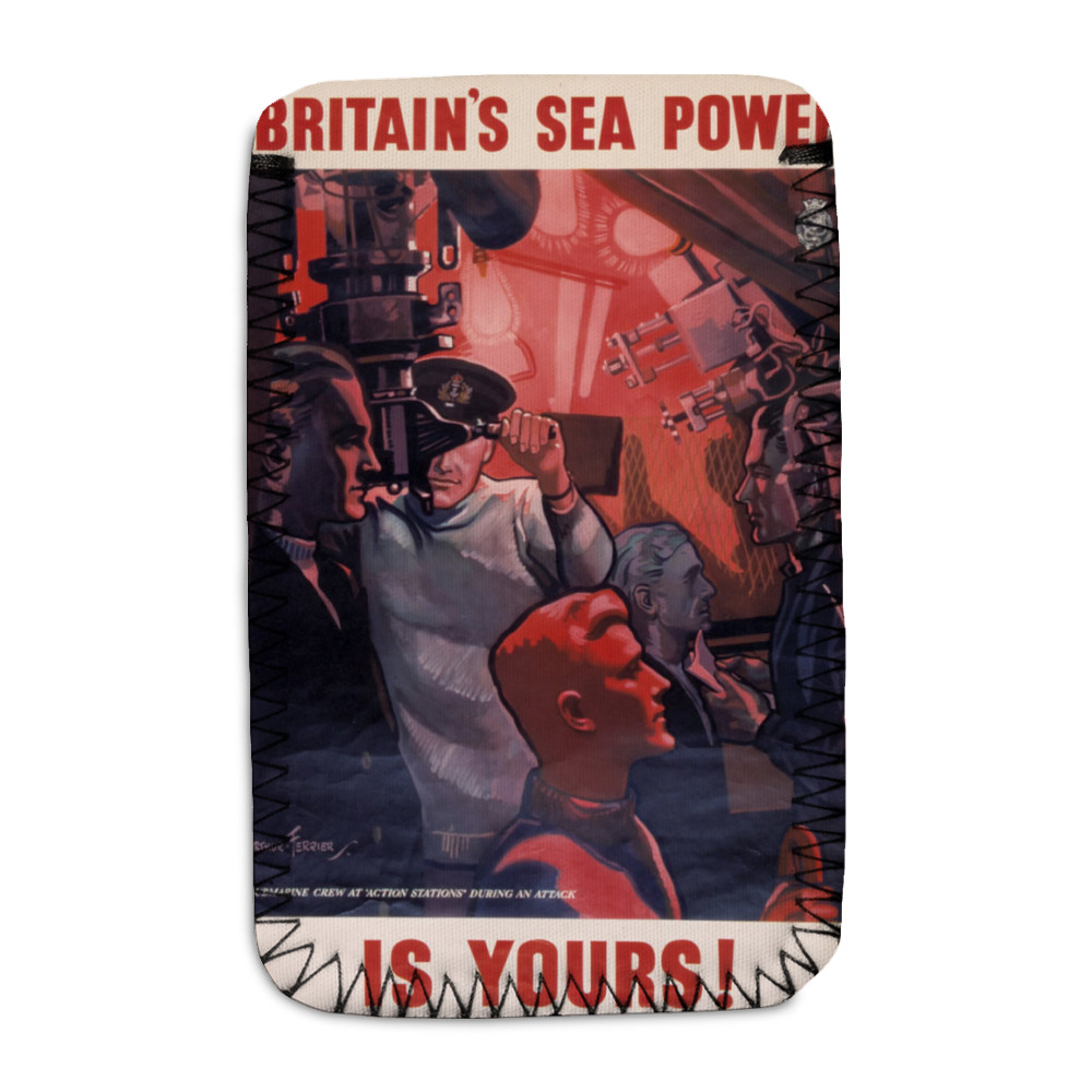 Britain's Sea Power is Yours! Submarine Crew at 'Action Stations' During an Attack Phone Sock