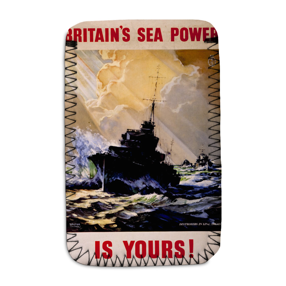 Britain's Sea Power is Yours! Destroyers in Line Ahead Phone Sock
