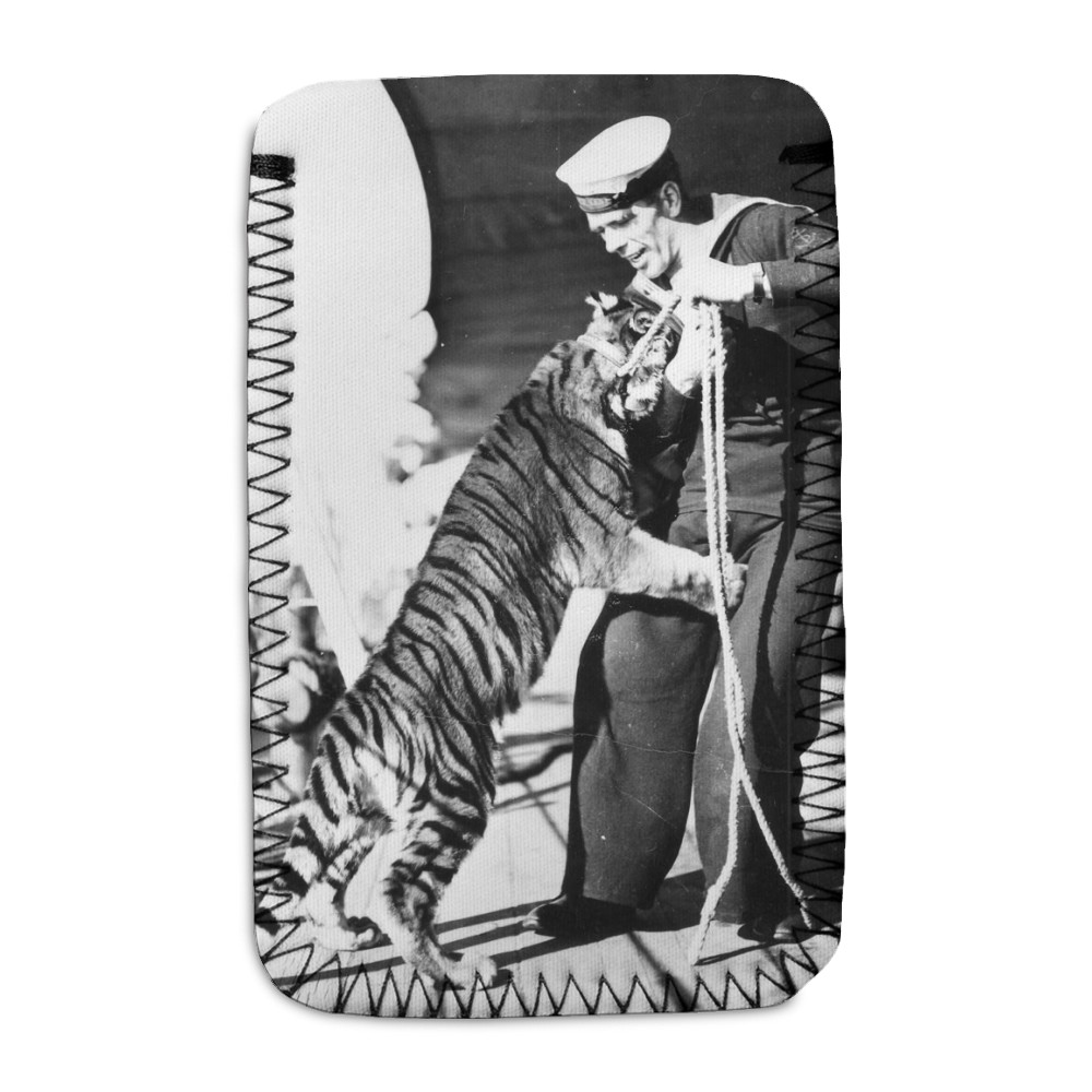 Tiger Cub on HMS Kent Phone Sock