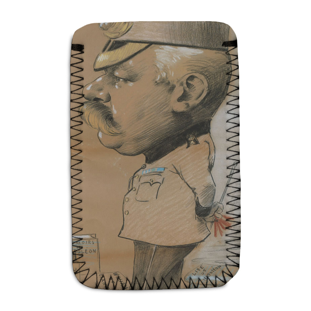 caricature, unidentified Lieutenant Colonel of the Royal Marines Light.. Phone Sock