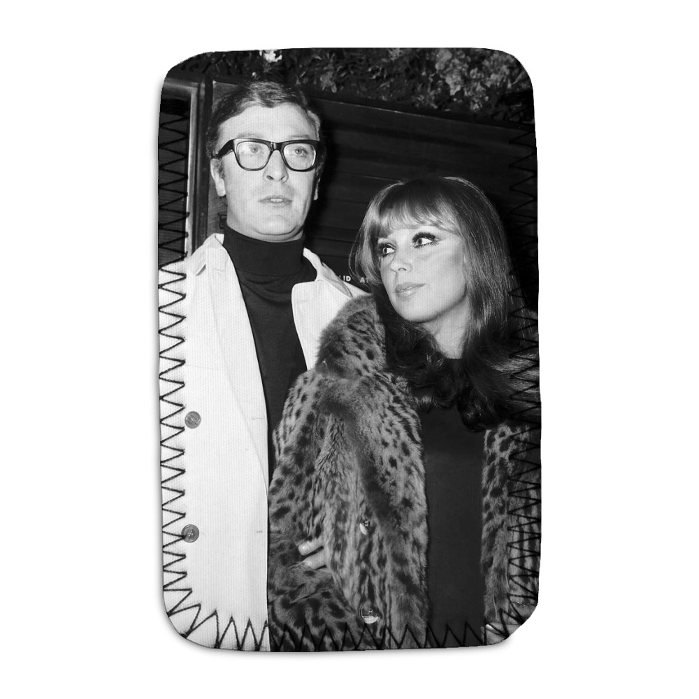 Michael Caine actor and girlfriend Elizabeth Ercy Phone Sock