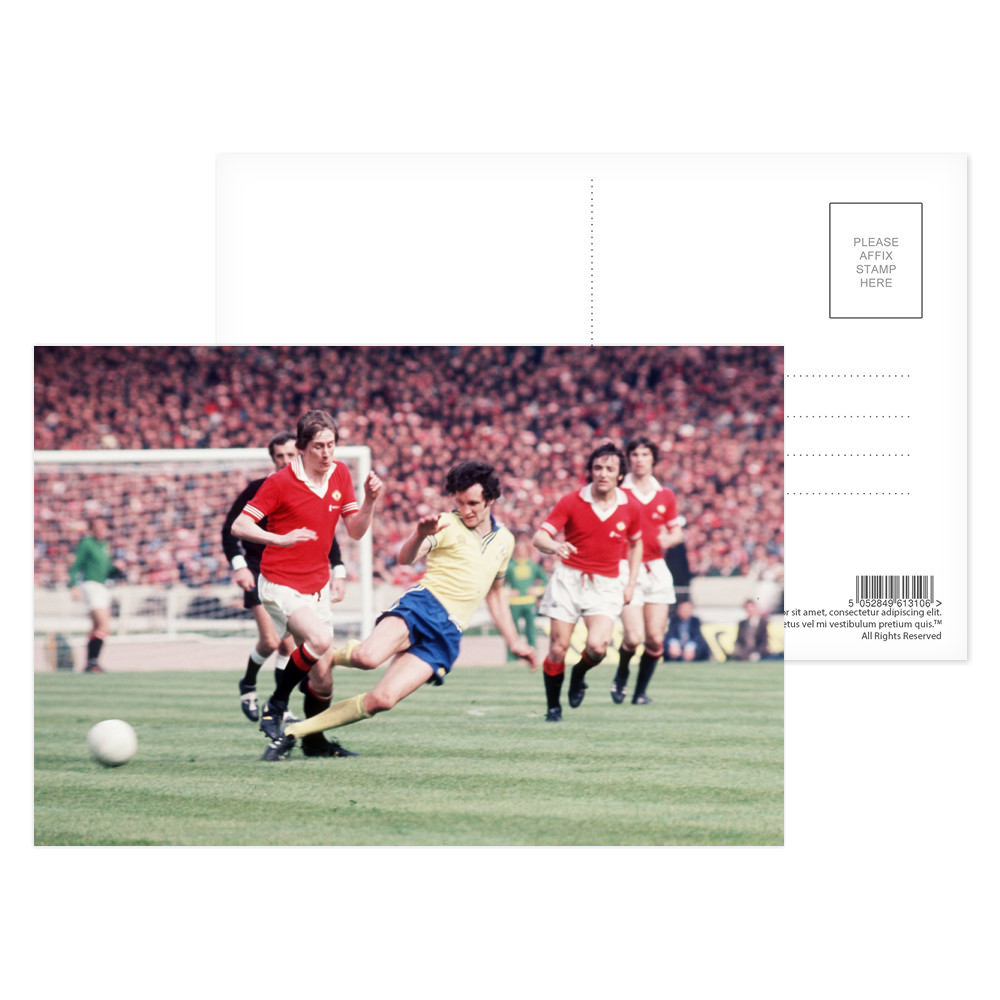 1976 FA Cup Final at Wembley, May 1976. Southampton 1 v Manchester United.. Postcard (x8)