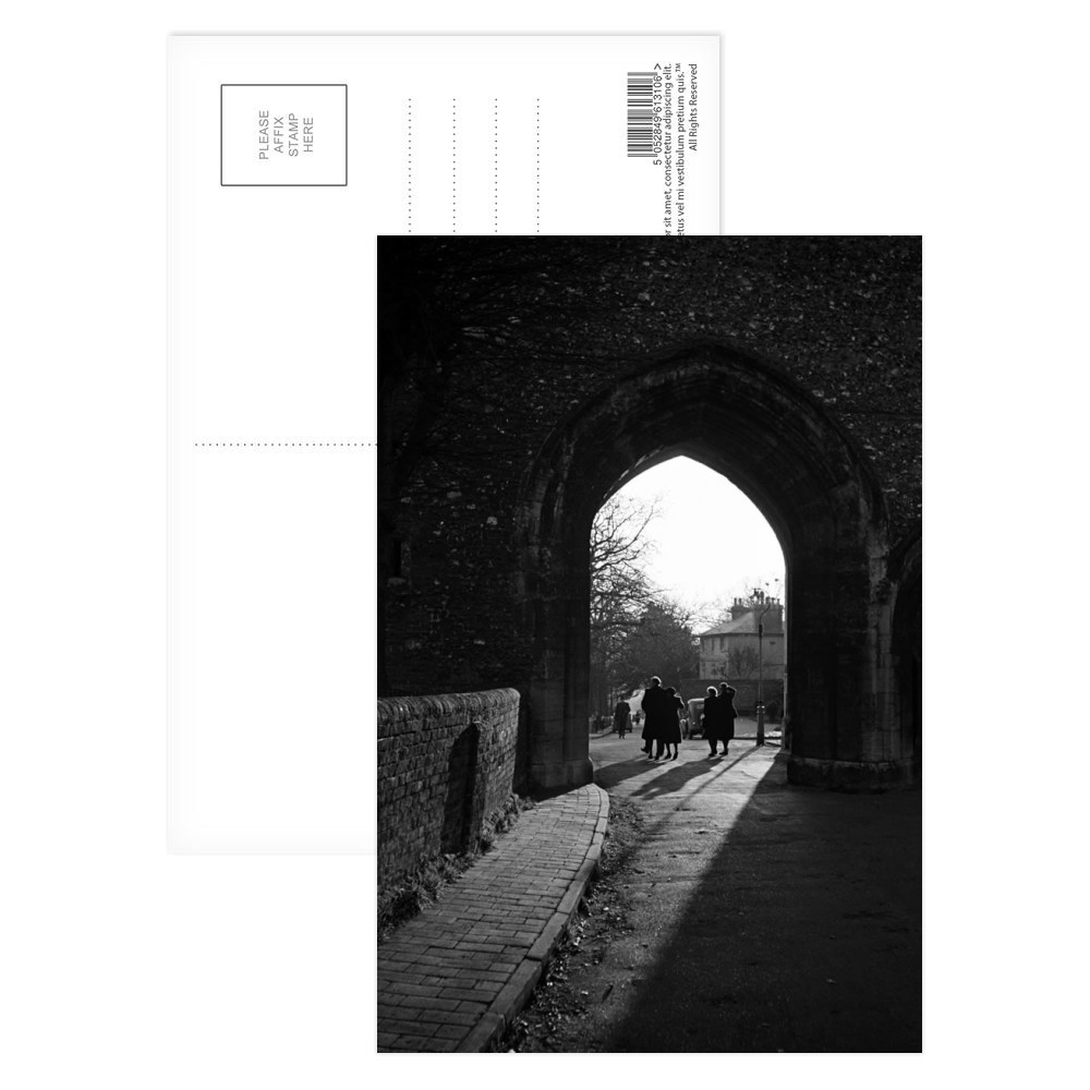 People walk through an arch near St.. Postcard (x8)
