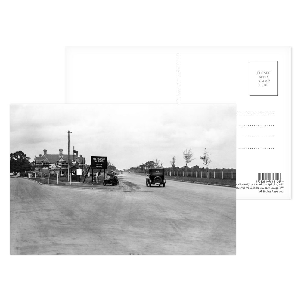 AA Patrol box on the newly opened Colnbrook by-pass (A4) at Harmondsworth,.. Postcard (x8)