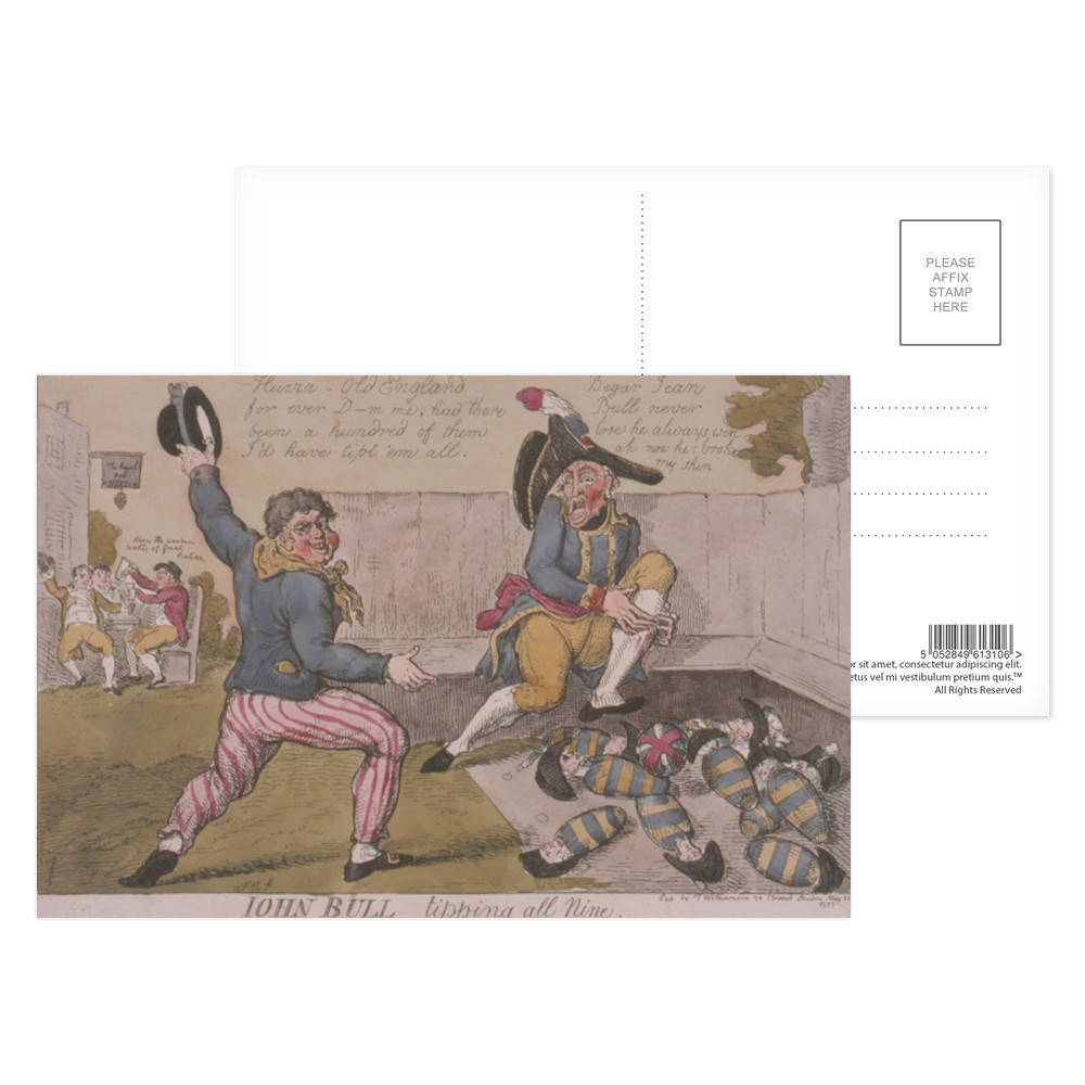 John Bull Tipping All Nine  Postcard (x8)