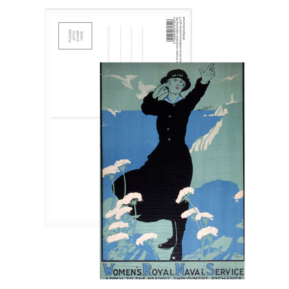 Women's Royal Naval Service Postcard (x8)
