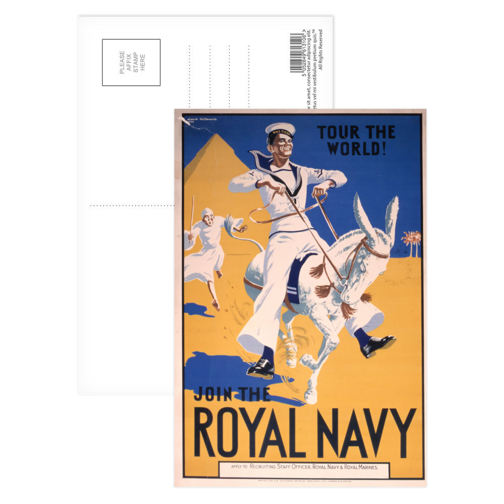 Join the Royal Navy - Tour the World Postcard (x8)