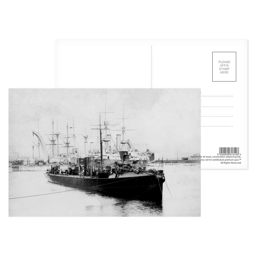 HMS Havock Anchored  Postcard (x8)