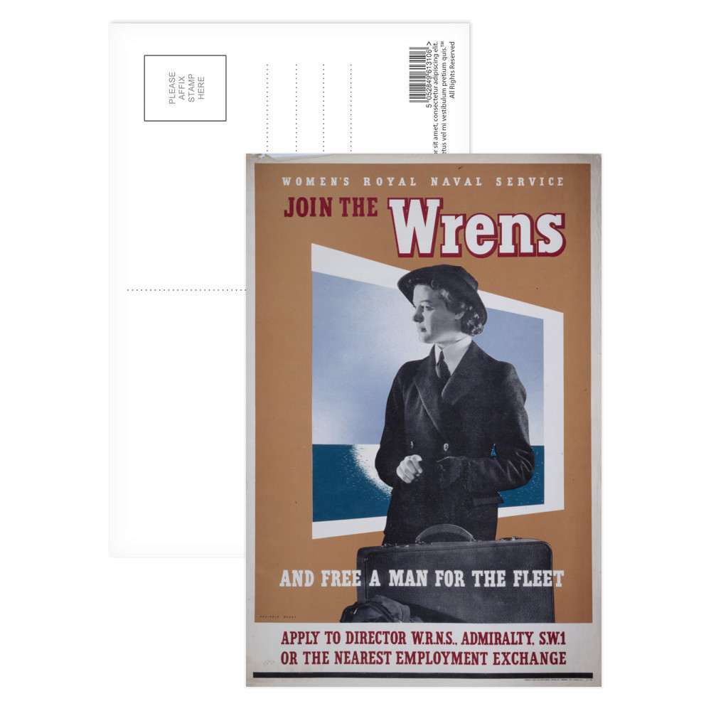 Join the Wrens and Free a Man for the Fleet Postcard (x8)