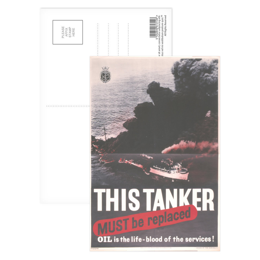 This Tanker Must be Replaced Postcard (x8)
