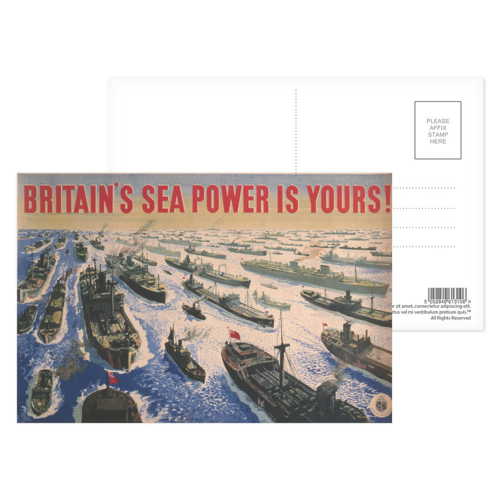 Britain's Sea Power is Yours! Postcard (x8)