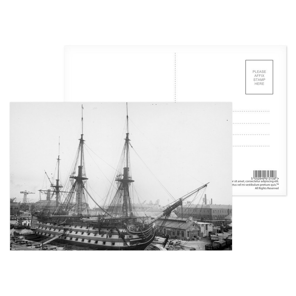 Re-installing the Pre-War Rigging on HMS Victory Postcard (x8)