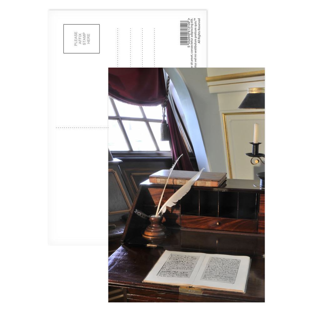Nelson's Desk on HMS Victory Postcard (x8)